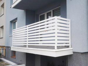 balustrada balkonowa biała