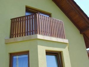 balustrada balkonowa brazowa
