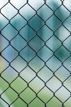 Ogrodzenie - Detal siatki ogrodzeniowej