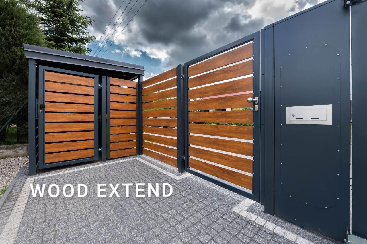 Ogrodzenia - Przykład wykonania Wood Extend