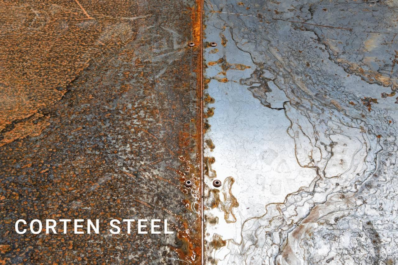 Ogrodzenia - Przykład materiału typu Corten Steel